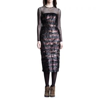 Burberry  Prorsum Tinsel Illusion Dress