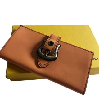 Fendi Orange Zip-Around Wallet