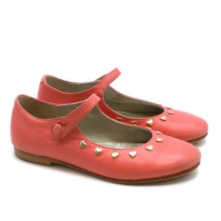 Bonpoint Heart-Studded Mary Janes