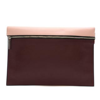 Victoria Beckham Leather Zipper Clutch