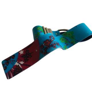 Versace x H&M Floral Print Leather Belt