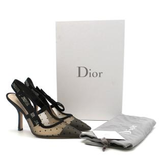 Dior J�adore pump in Dotted Swiss Tulle and Rhinestones