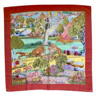 Hermes Nuba Mountain Silk Scarf 90