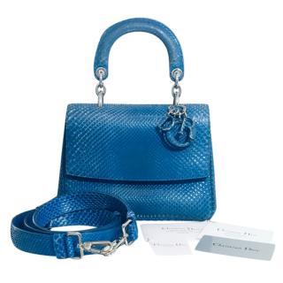 Dior Royal Blue Python 'Be Dior' Cruise Collection Bag