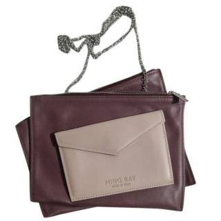 Ming Ray Violet Envelope Chain Clutch