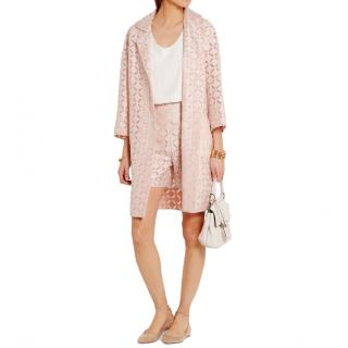 Roland Mouret Paddington Mesh Coat