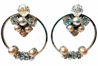 Vicki Sarge Crystal Hoop Earrings