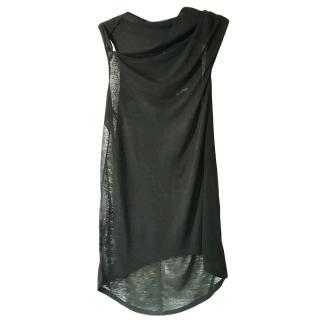 Helmut Lang Black Draped Tunic
