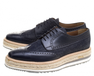Prada Blue Derby Brogues
