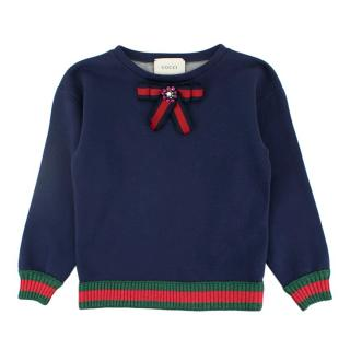 Gucci Web Stripe Bow Detail Jumper