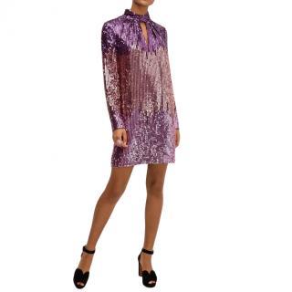 Kate Spade Plumtree Ombre Sequin Dress