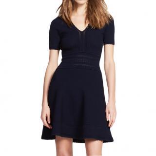 Sandro Black Knit Mini Dress