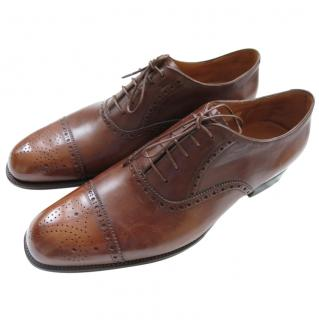 Silvano Lattanzi Handmade Antique Brown Brogues