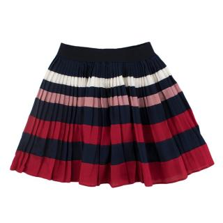 Gucci Pleated Striped Skirt