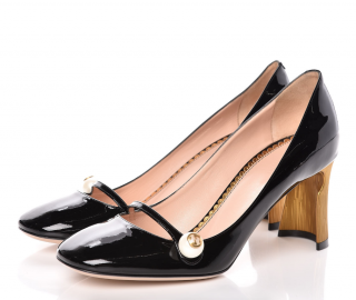 Gucci Vernice Pearl Arielle Mary Jane Pumps