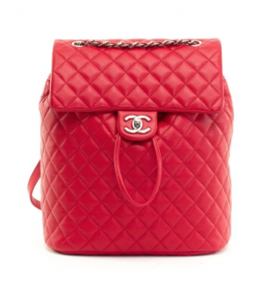 Chanel Red Leather Urban Spirit Backpack