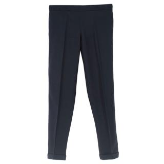 The Row Blue Wool Tailored Pants