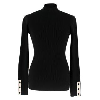 Frame Black Ribbed Turtleneck Jumper