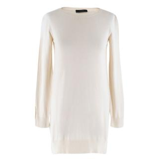 The Row Lightweight Silk Blend Longline Sweater