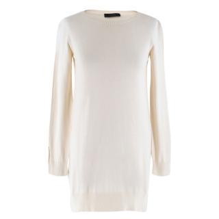 The Row Lightweight Silk Blend Longline Sweater