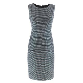 Chanel Black and White Tweed Embroidered Dress