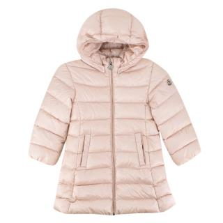 Moncler Enfant Dusty Pink Hooded Down Jacket