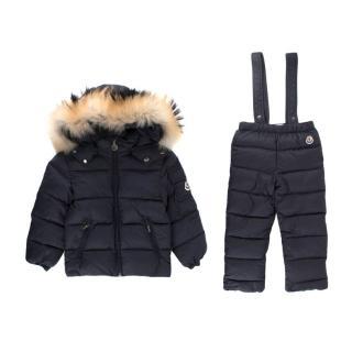 Moncler Navy Kid's 2 Padded Ski Suit