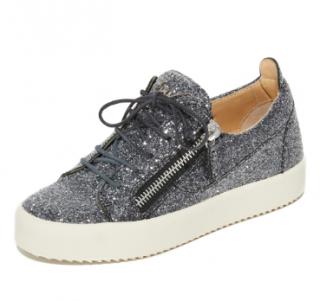 Giuseppe Zanotti Anthracite Glitter Sneakers