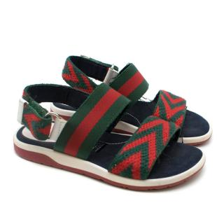 Gucci Kids 27 Web Sandals