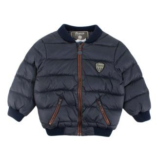Bonpoint Navy Down Bomber Jacket