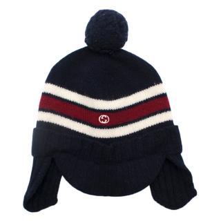 Gucci Kids Knit Pom Pom Hat