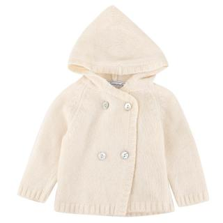 Normandie Baby Hooded Bone white Cardigan