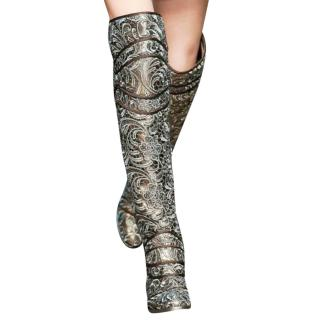 Dolce & Gabbana Embroidered Knight Tall Boots