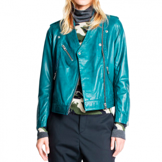 Zadig & Voltaire Loon blue biker jacket