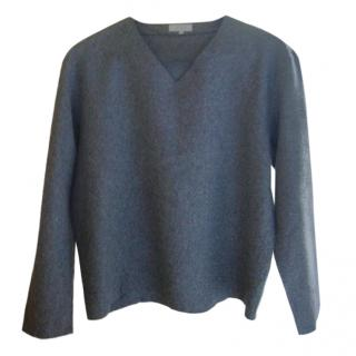 Cos grey wool blend top