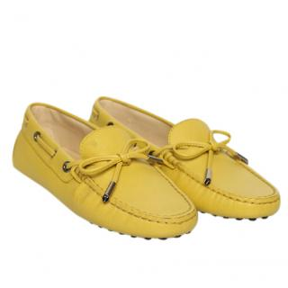 Tod's Yellow Gommino Driving Loafers