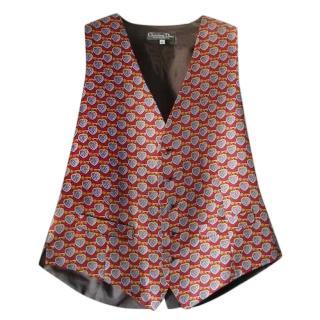 Dior Heart & Key Print Silk Embroidered Waistcoat