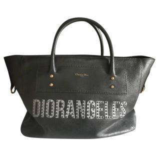 Dior Black Studded Diorangeles Tote