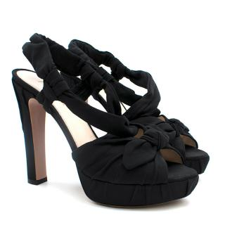 Prada Platform Bow Tie Sandals
