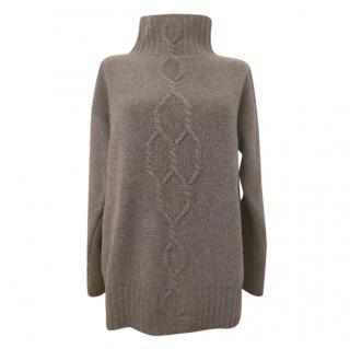 Max Mara Grey Wool & Cashmere Knit Jumper