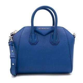 Givenchy Blue Mini Antigona Tote Bag