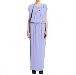 Acne Studios Two-Tone Chiffon Maxi Dress