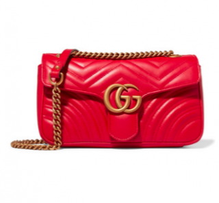 Gucci Red Marmont Small Quilted Shoulder Bag