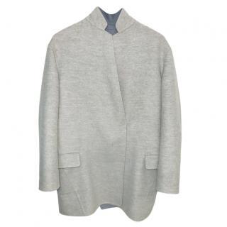 Loro Piana Reversible Grey Wool & Cashmere Coat