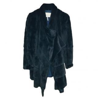 T.Paris Black Mink Fur Coat