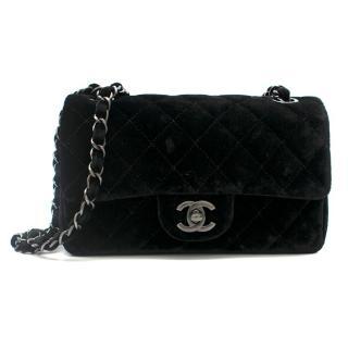 Chanel Black Velvet Mini Flap Bag