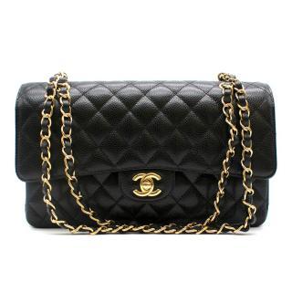Chanel Black Caviar Leather Classic Double Flap Bag