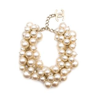 Chanel Spring '13 Runway Faux Pearl Cluster Necklace