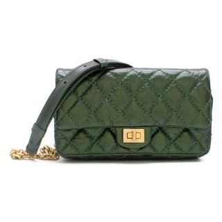 Chanel Metallic Green Reissue 2.55 Waist Bag