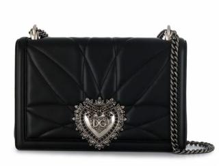 Dolce & Gabbana Black Nappa Leather Devotion Bag